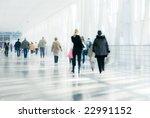 people walking in modern... | Shutterstock . vector #22991152