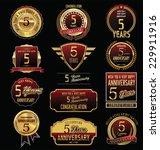 anniversary golden label... | Shutterstock .eps vector #229911916