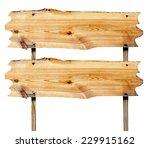 double billboard wooden close... | Shutterstock . vector #229915162
