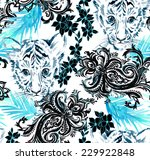 Seamless Pattern With Animal...