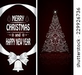 christmas card with a christmas ... | Shutterstock . vector #229926736