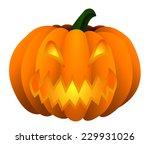 halloween pumpkin jack o... | Shutterstock . vector #229931026