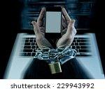 hands of caucasian businessman... | Shutterstock . vector #229943992