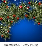 winter background with spruce... | Shutterstock .eps vector #229944322