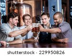 friends fans drinking beer and...   Shutterstock . vector #229950826