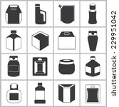 packaging icons set | Shutterstock .eps vector #229951042