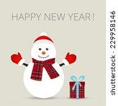 snowman  greeting card  vector...   Shutterstock .eps vector #229958146
