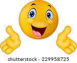emoticon presenting with his...   Shutterstock .eps vector #229958725