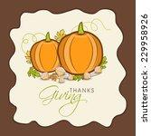 stylish happy thanksgiving day... | Shutterstock .eps vector #229958926