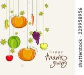 thanksgiving day celebration... | Shutterstock .eps vector #229958956