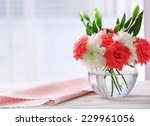 Beautiful Flowers In Vase With...