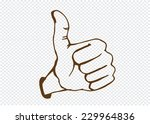 thumbs up symbol hand drawn | Shutterstock .eps vector #229964836