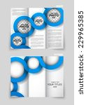 tri fold brochure design with... | Shutterstock .eps vector #229965385