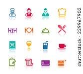 restaurant icons | Shutterstock .eps vector #229967902