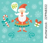 christmas greeting card with... | Shutterstock .eps vector #229968322