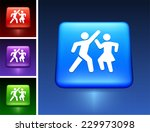 people dancing on blue square... | Shutterstock .eps vector #229973098