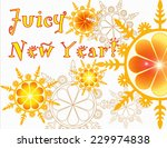 bright new year card with... | Shutterstock . vector #229974838