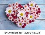 Beautiful Flowers In Heart...