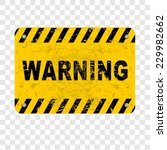 warning  sign | Shutterstock .eps vector #229982662