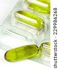 soft gelatin capsule in blister ... | Shutterstock . vector #229986268