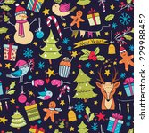 christmas seamless pattern with ... | Shutterstock .eps vector #229988452