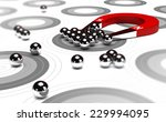 horseshoe magnet attracting... | Shutterstock . vector #229994095