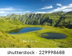 abkhazia. two small lakes... | Shutterstock . vector #229998688