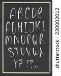 vector alphabet. hand drawn... | Shutterstock .eps vector #230002012