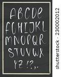 vector alphabet. hand drawn... | Shutterstock .eps vector #230002012