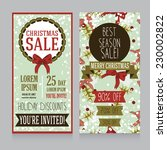templates for christmas sale... | Shutterstock .eps vector #230002822