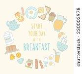breakfast food and drink. | Shutterstock .eps vector #230002978