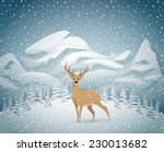 winter holidays landscape with... | Shutterstock .eps vector #230013682