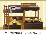 a vector illustration of kids... | Shutterstock .eps vector #230026738