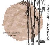 black and white bamboo vector... | Shutterstock .eps vector #230028622