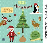 cute christmas background | Shutterstock .eps vector #230033566