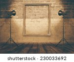 vintage studio room  background ... | Shutterstock . vector #230033692