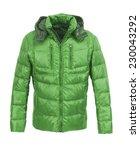 green male winter jacket... | Shutterstock . vector #230043292