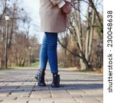 stylish hipster girl in the... | Shutterstock . vector #230048638