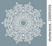 orient vector ornamental round... | Shutterstock .eps vector #230051026