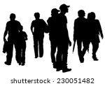 big crowds children on white... | Shutterstock .eps vector #230051482