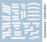 white  ribbons set isolated on...   Shutterstock .eps vector #230052802