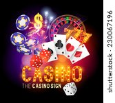 casino vector illustration... | Shutterstock .eps vector #230067196