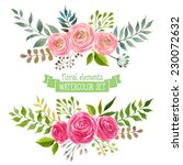 vector flowers set. colorful... | Shutterstock .eps vector #230072632