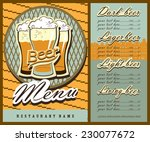 beer menu design with beer... | Shutterstock .eps vector #230077672