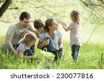 family taking a break on a... | Shutterstock . vector #230077816