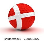 danish golf ball  isolated with ...   Shutterstock . vector #230080822