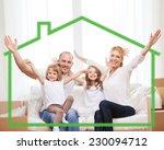 family  children  accommodation ... | Shutterstock . vector #230094712