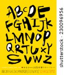 alphabet and numbers   hand... | Shutterstock .eps vector #230096956