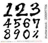 handwritten numbers   hand... | Shutterstock .eps vector #230097706