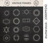 vintage sunburst and frames....   Shutterstock .eps vector #230099242